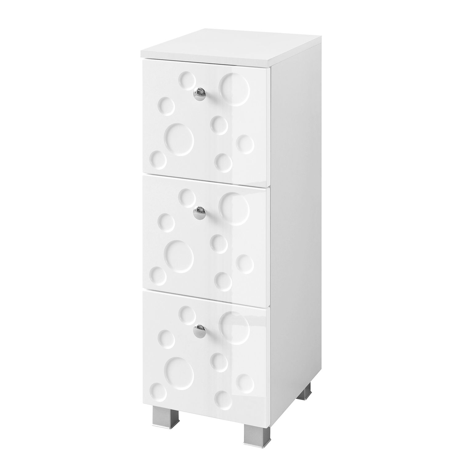 Armoire basse Bubble - Blanc brillant, Giessbach