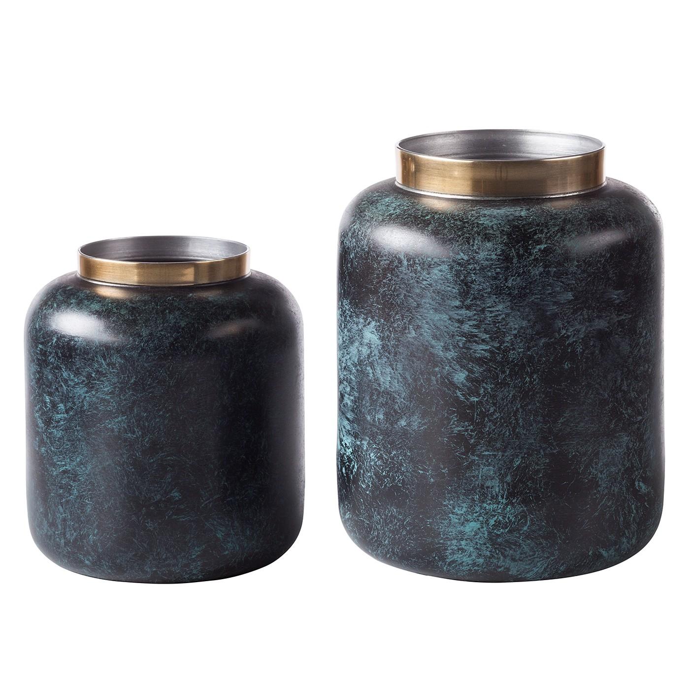 top vase oxidise ii 2 teilig aluminium gold gr n. Black Bedroom Furniture Sets. Home Design Ideas