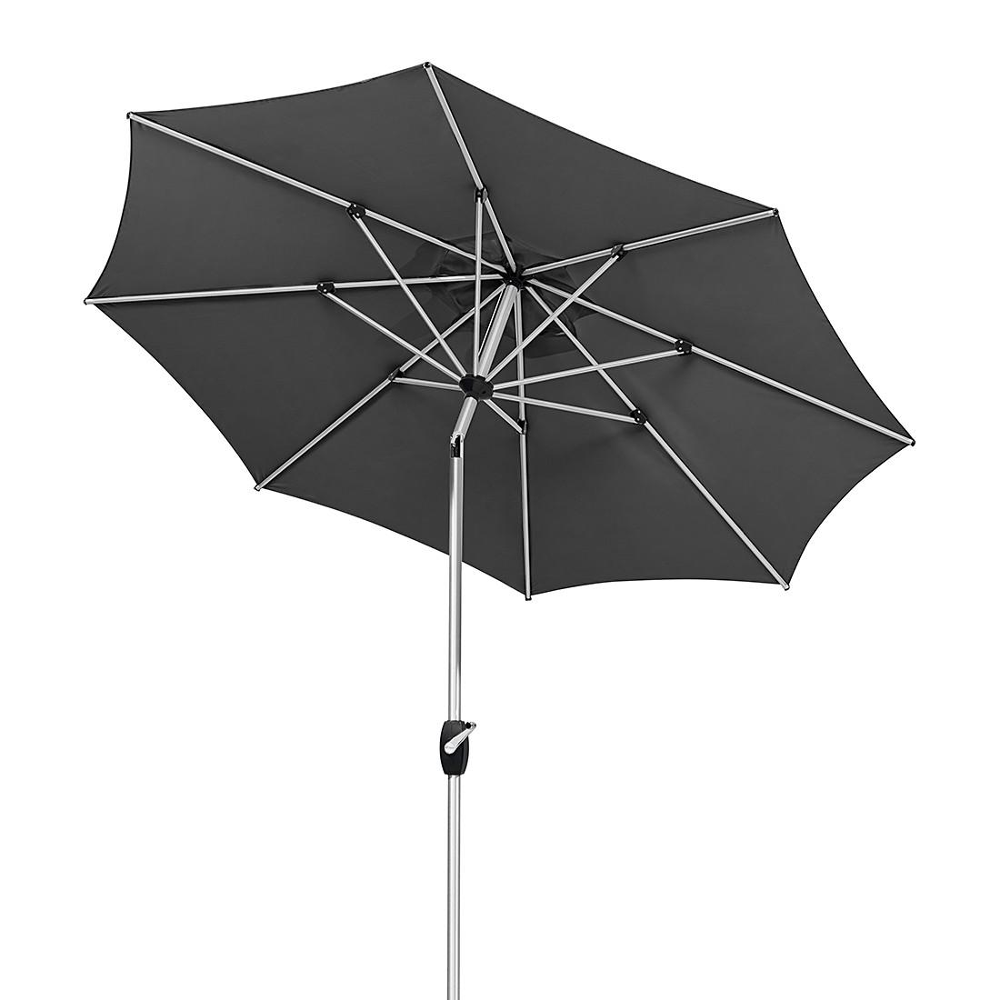 Venedig 270 Sonnenschirm - Aluminium/Polyester - Silber/Grau, Schneider Schirme