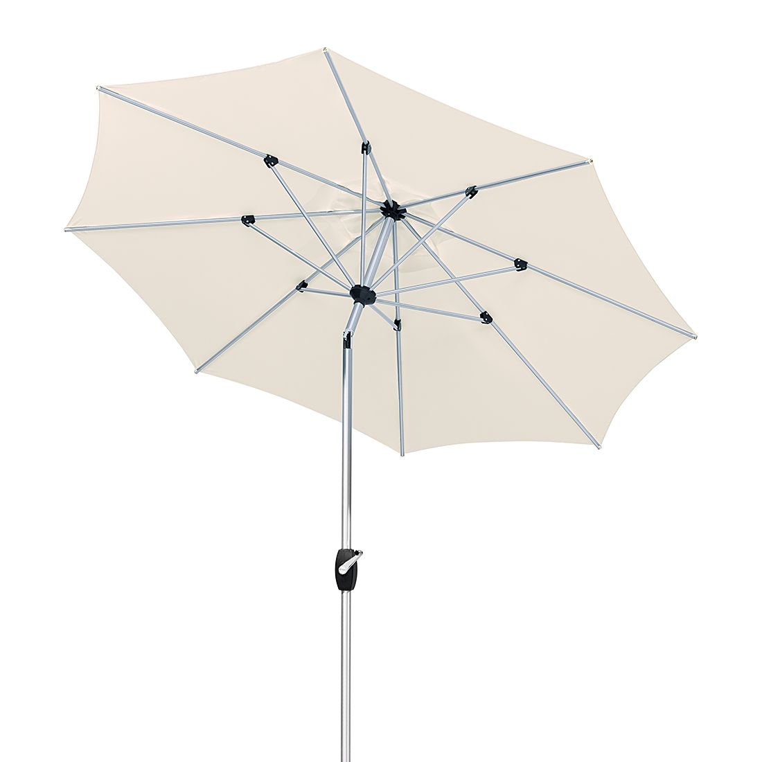 Venedig 270 Sonnenschirm - Aluminium/Polyester - Silber/Natur, Schneider Schirme