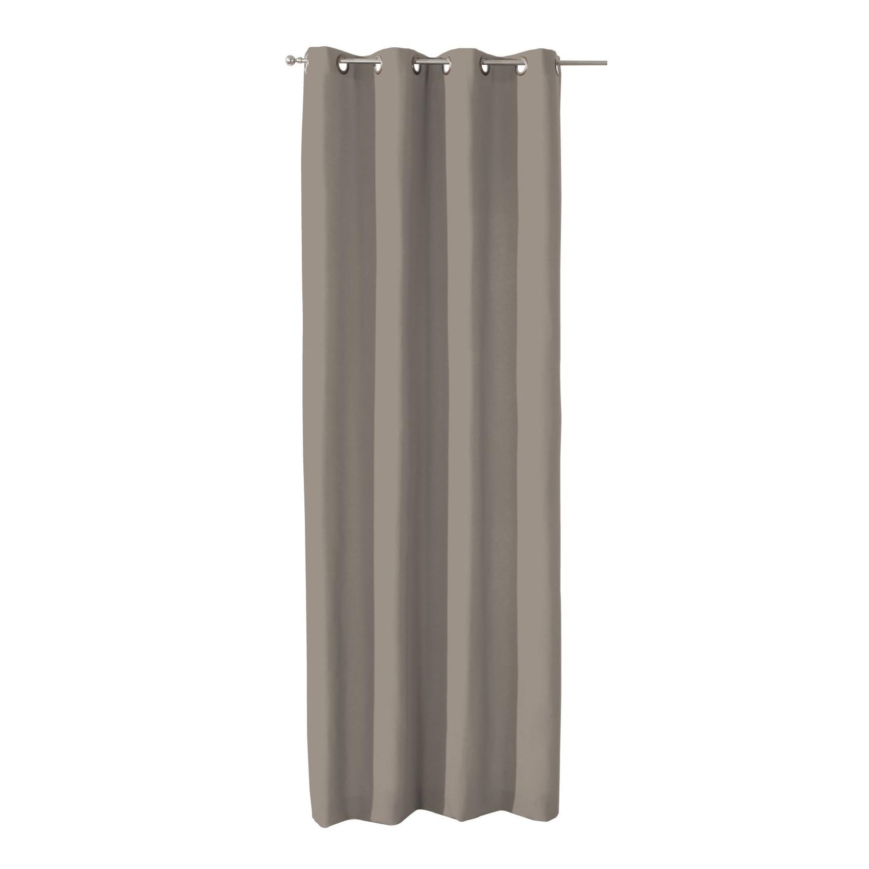 Home 24 - Rideau à ?illets occultant - marron clair - 130 x 310 cm, dekoria