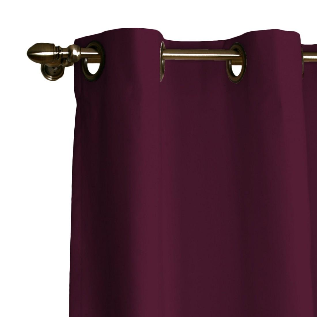 Image of Tenda a rivetti - Viola Tenda oscurante con occhielli - viola - 130 x 310 cm, Dekoria