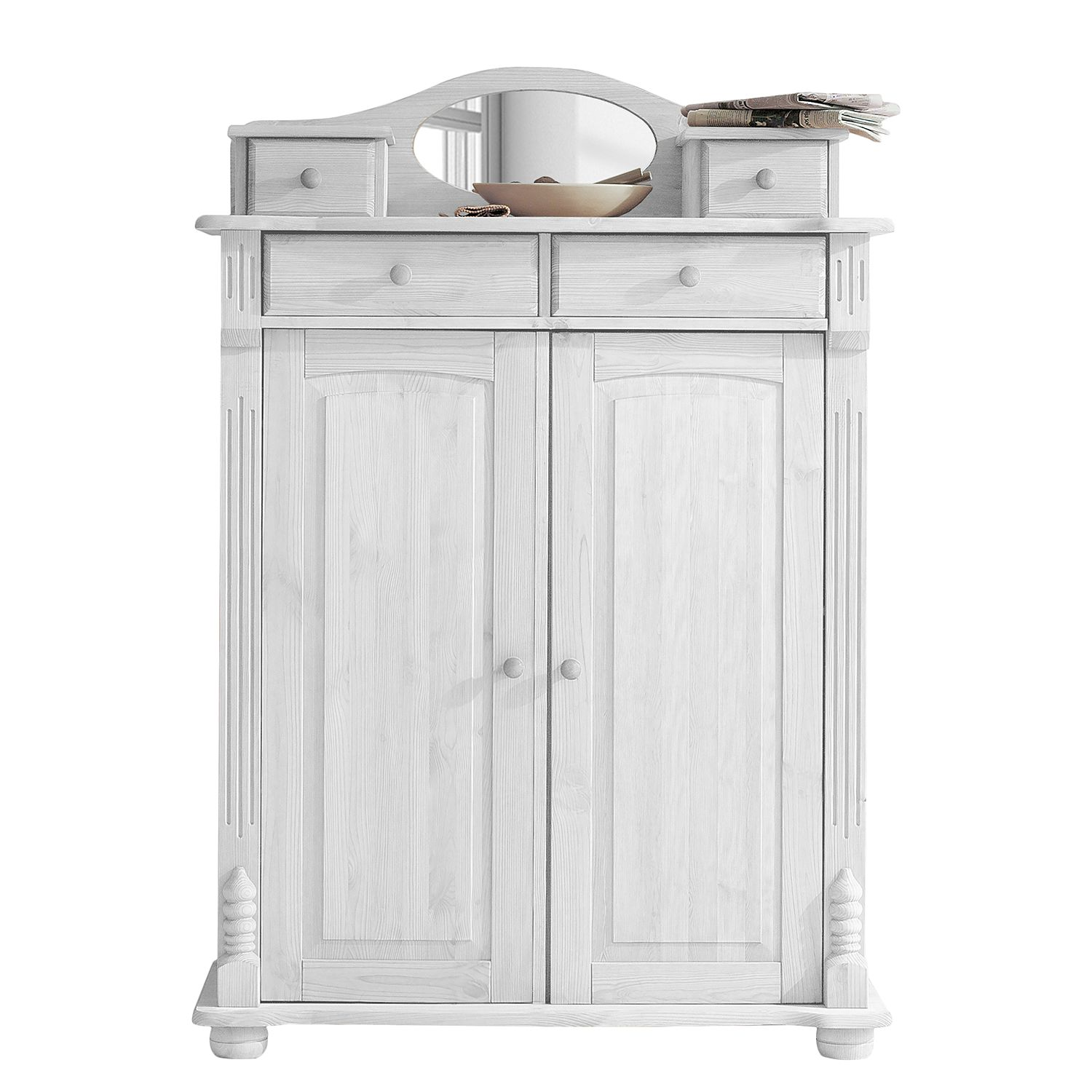 Armoire commode Narva - Pin massif - Epicéa blanc, Maison Belfort