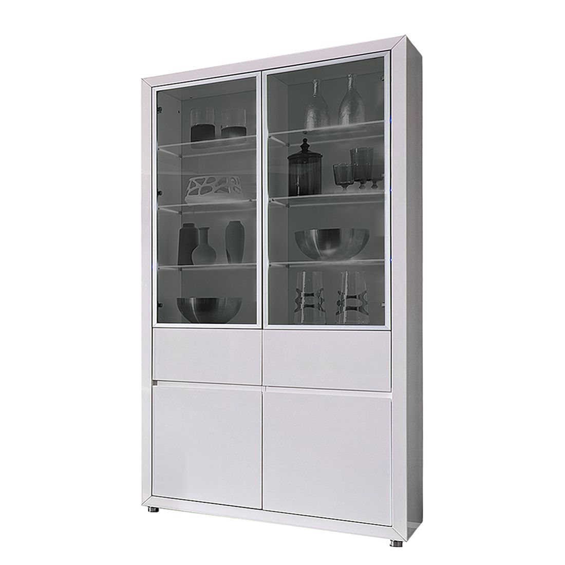 vitrine weiss hochglanz preisvergleiche. Black Bedroom Furniture Sets. Home Design Ideas