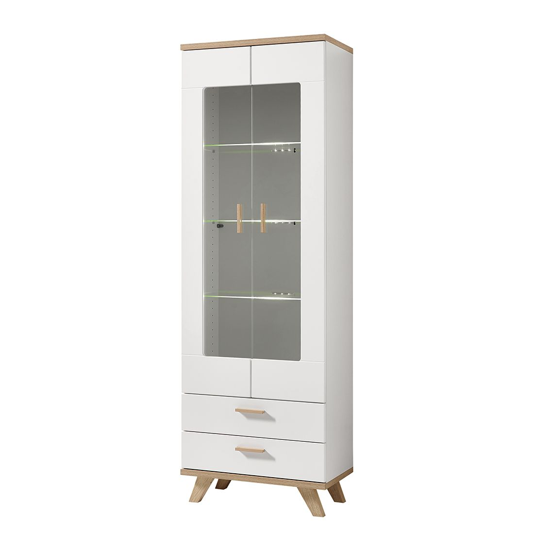 vitrine neston supermatt wei eiche sanremo dekor morteens g nstig online kaufen. Black Bedroom Furniture Sets. Home Design Ideas