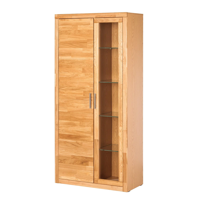 vitrinenschrank bernitt eiche teilmassiv modoform jetzt kaufen. Black Bedroom Furniture Sets. Home Design Ideas