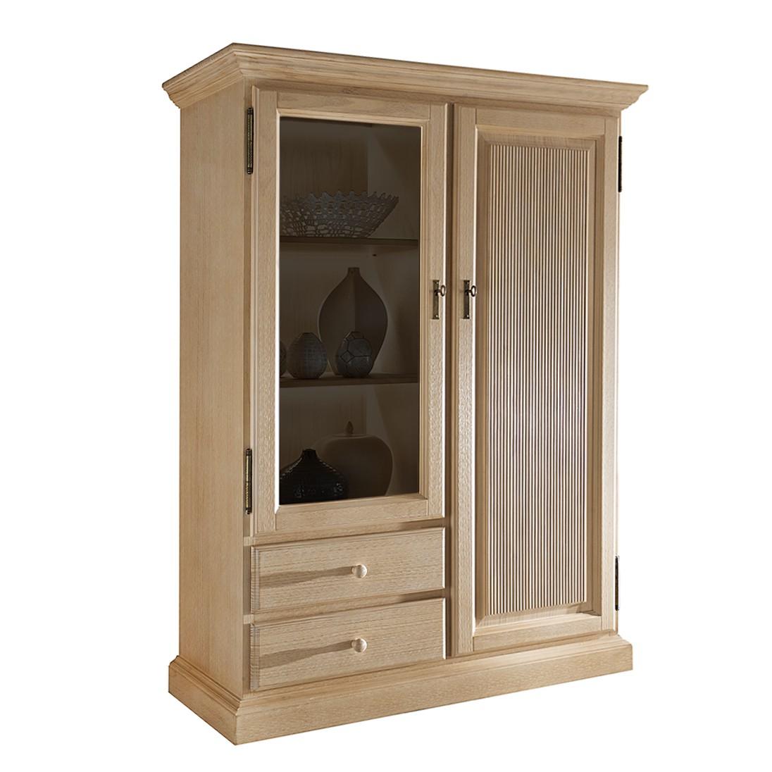 Home 24 - Armoire vitrine breddin iii - pin massif - sans éclairage, maison belfort