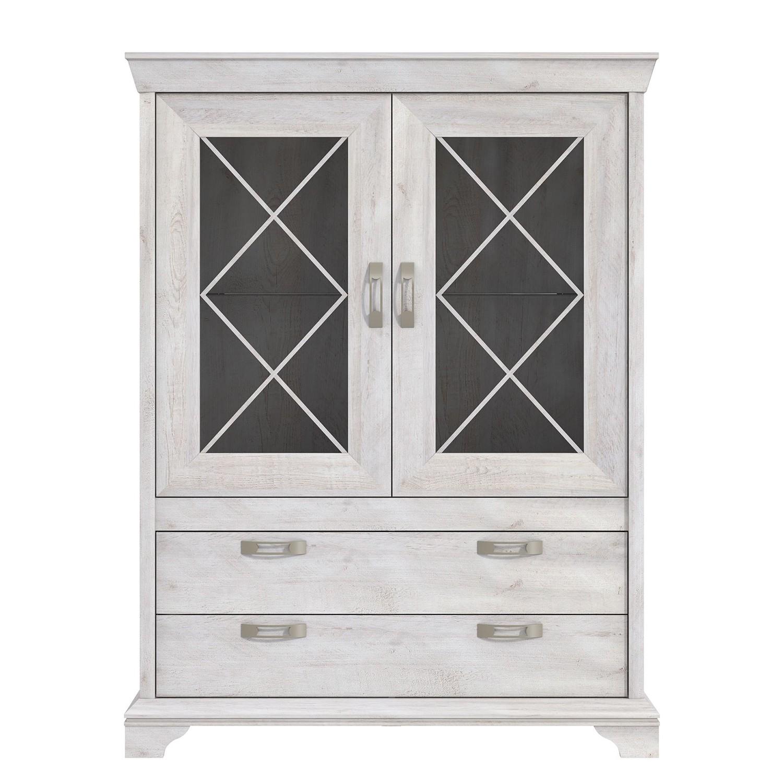vitrinenschrank brienz pinie wei dekor ohne beleuchtung maison belfort g nstig online kaufen. Black Bedroom Furniture Sets. Home Design Ideas