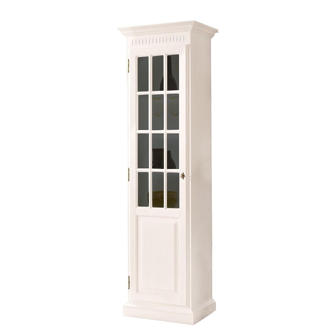 Armoire vitrine La Carlotta III - Pin massif - Crème - Sans éclairage, Landhaus Classic