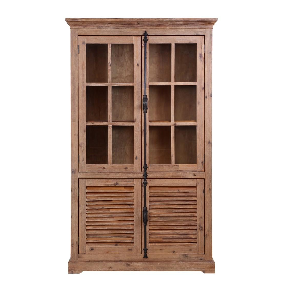 armoire vitrine le havre iii acacia massif ridgevalley. Black Bedroom Furniture Sets. Home Design Ideas