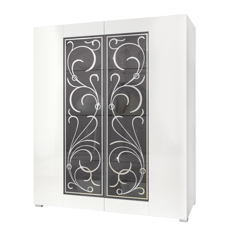 Armoire vitrine Padua LC - Blanc brillant, Lc Mobili