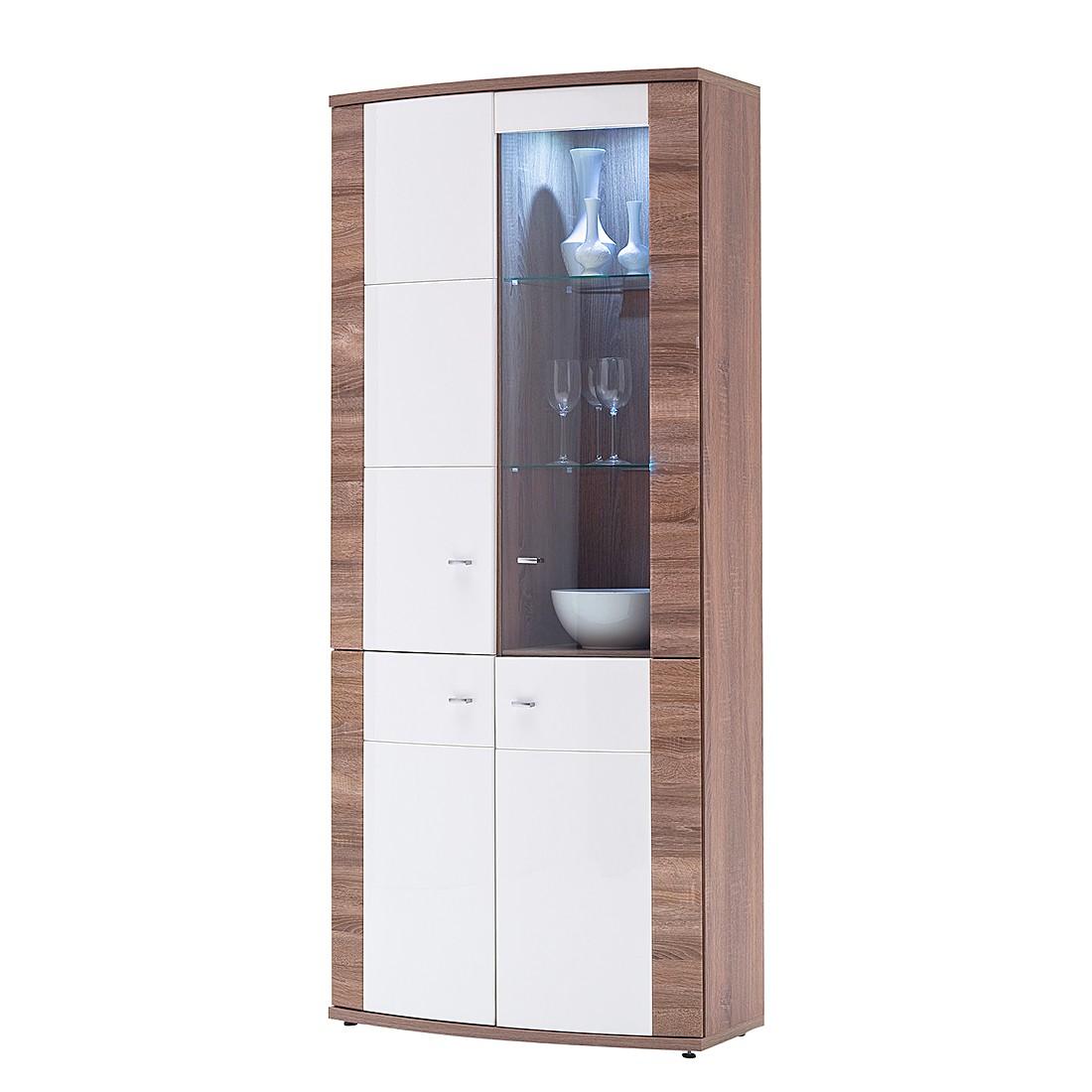 vitrinenschrank nussbaum preisvergleich die besten. Black Bedroom Furniture Sets. Home Design Ideas