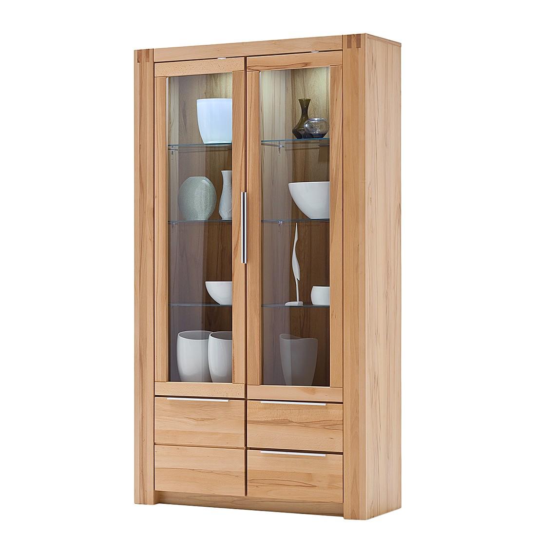 EEK A+, Armoire vitrine Vigas - Hêtre partiellement massif - Verni, Ars Natura