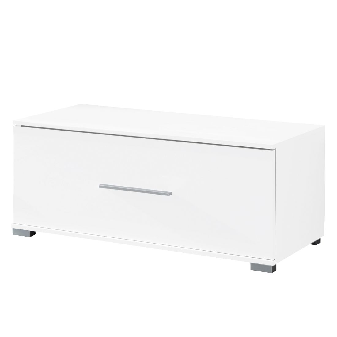 Meuble TV Vogue I - Blanc brillant / Blanc, Fredriks