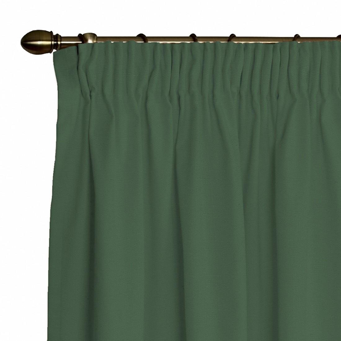 Image of Tenda Cotton Panama (incl. fettuccia arricciatende) - Verde abete - 130 x 260 cm, Dekoria