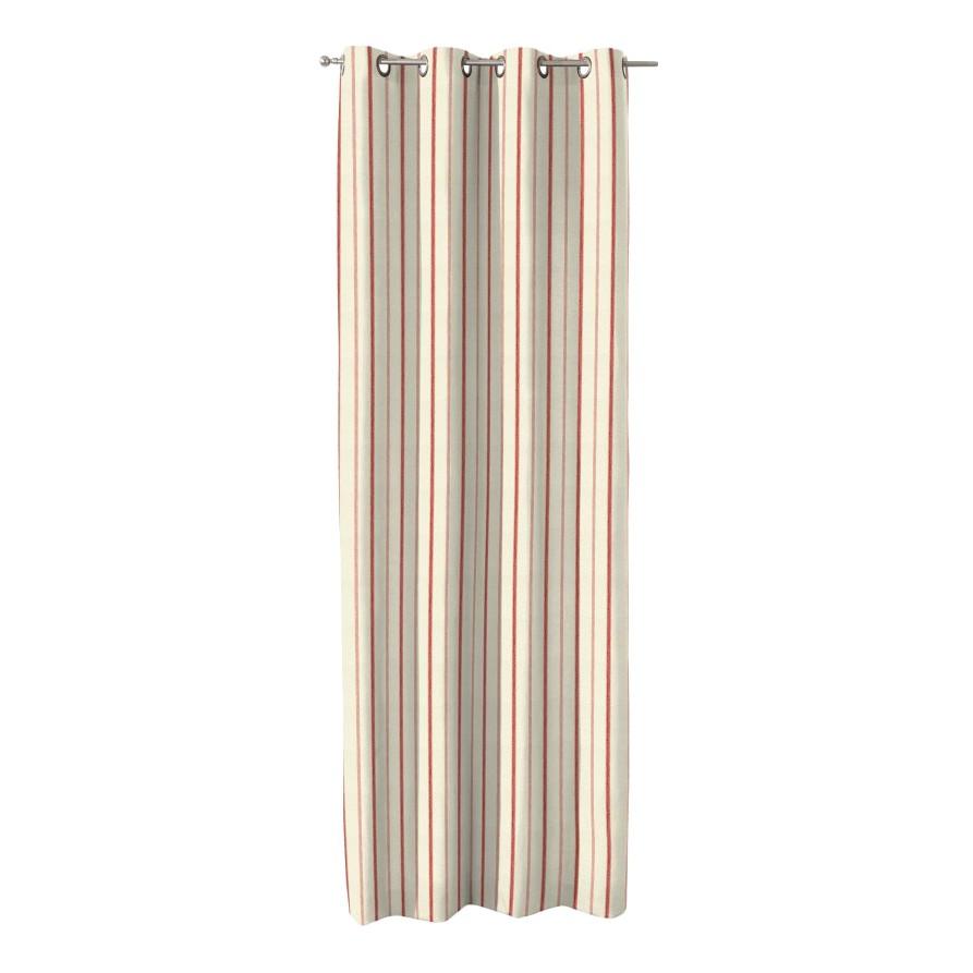 Image of Tende con occhielli - Color crema/rosso a strisce Crema/rosso righe- 130x260 cm, Dekoria