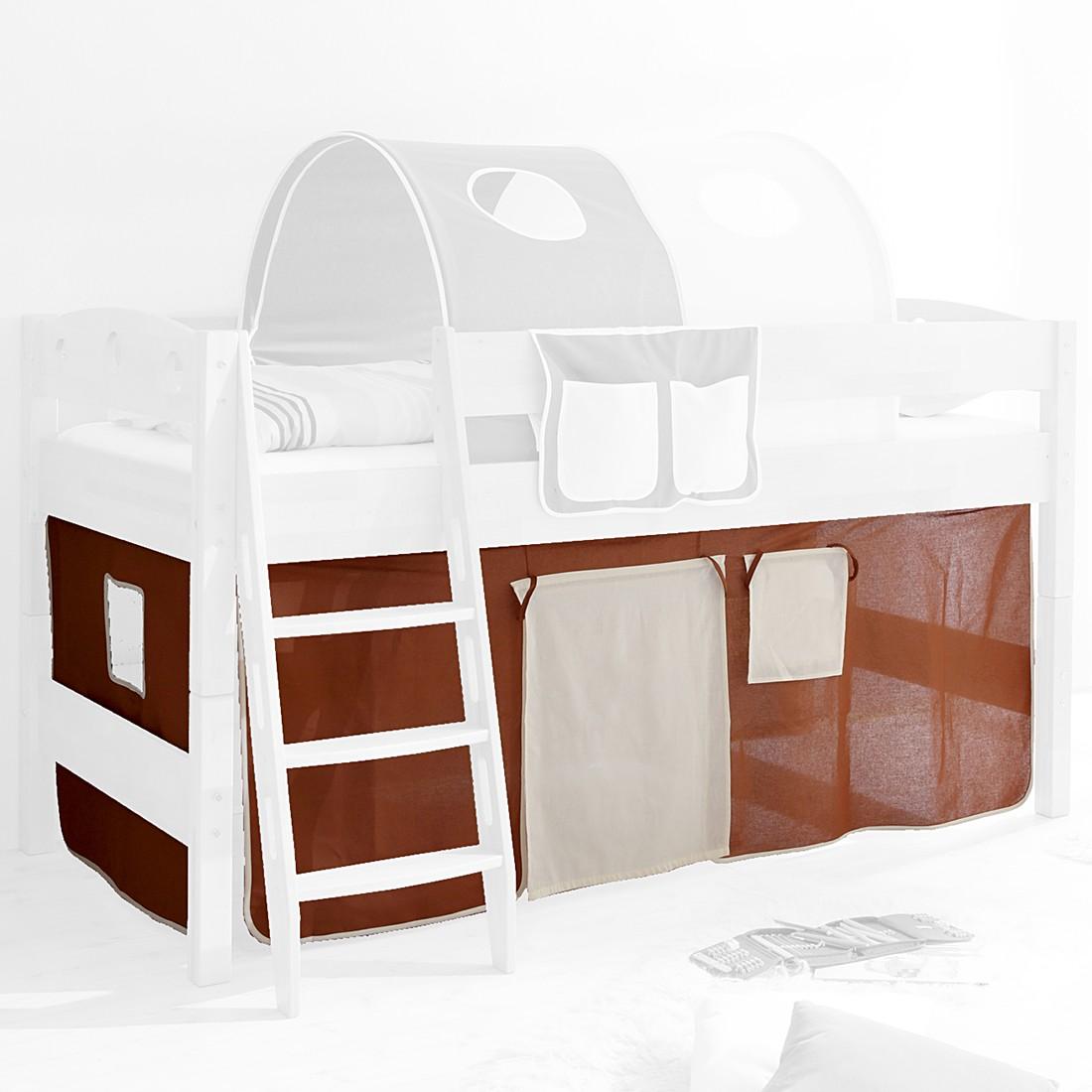 Home 24 - Rideau lobi - 100 % coton - beige / marron, ticaa