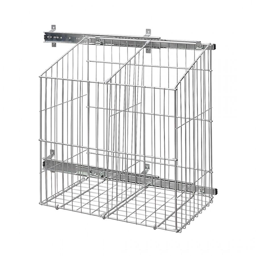 Wäschekorb Skøp (Seitlicher Auszug) - Aluminium