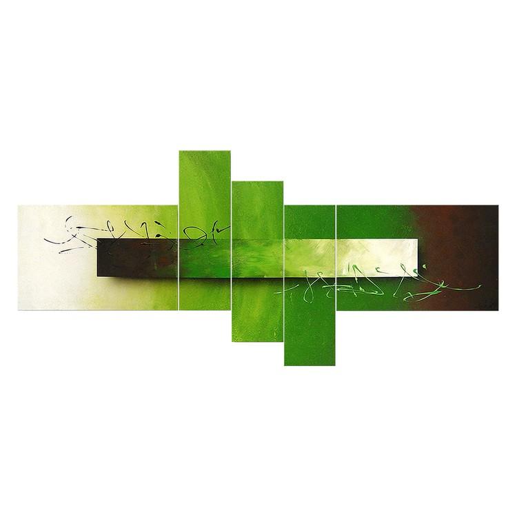 Endless Meadow schilderij - 100% Handgeschilderd - 180x80cm, Wandbilder XXL