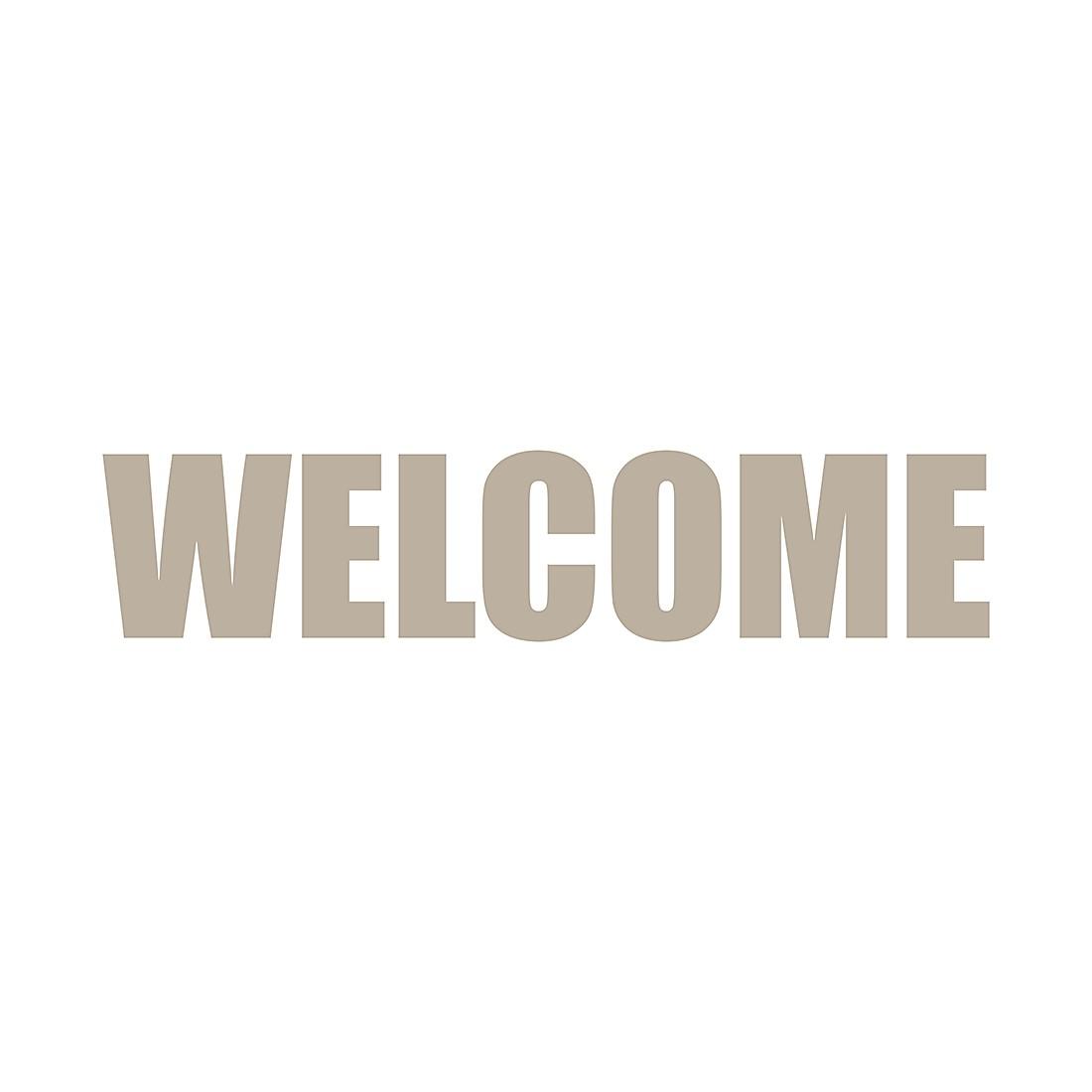 Wandafbeelding Welcome Impact - taupe, Pro Art