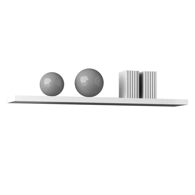 Wandplank Elmont - hoogglans wit, mooved