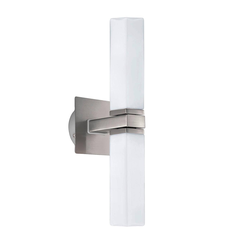 energie  A++, Wandlamp Palermo - opaalglas/staal - 2 lichtbronnen, Eglo