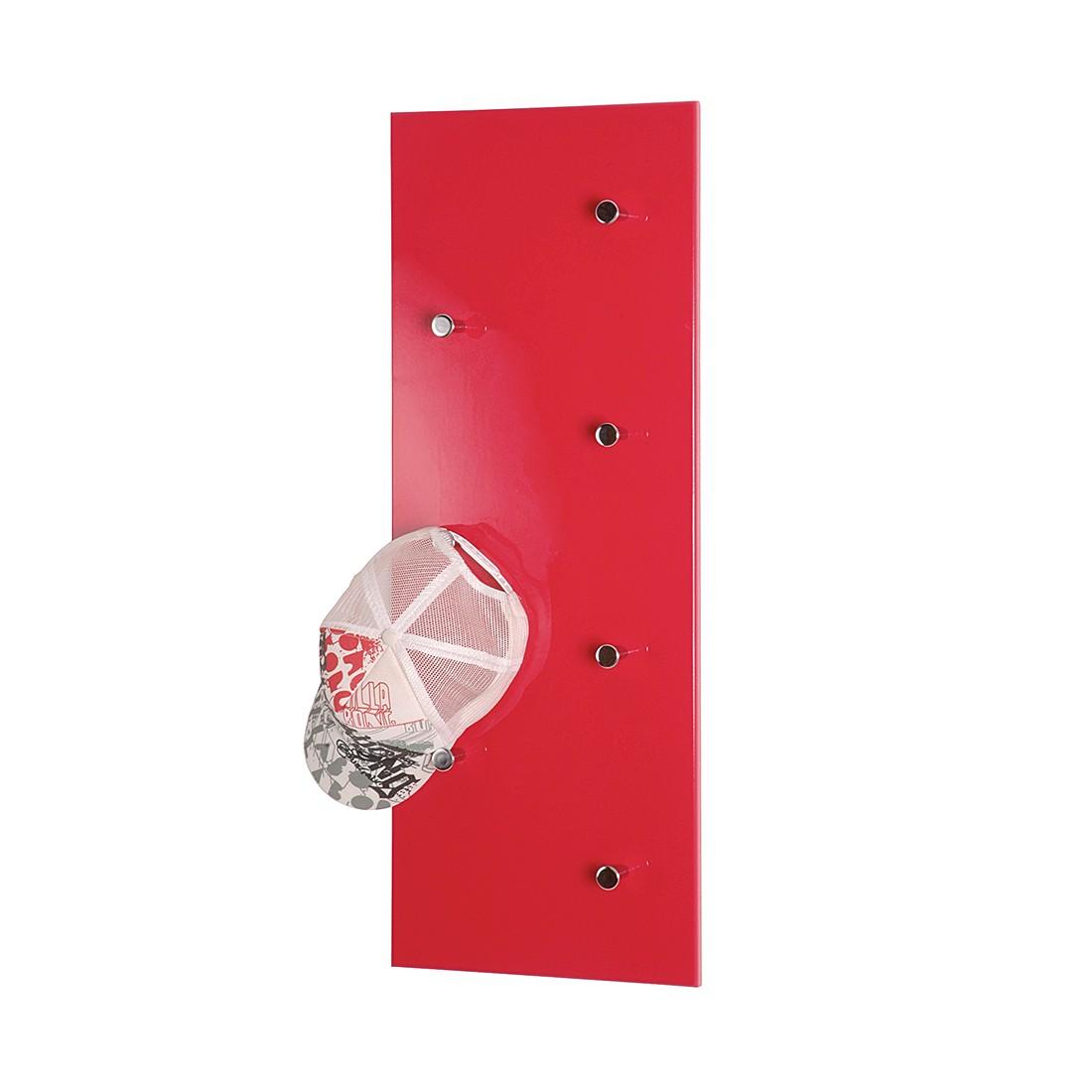 Kapstok Proka - hoogglans rood, Home Design
