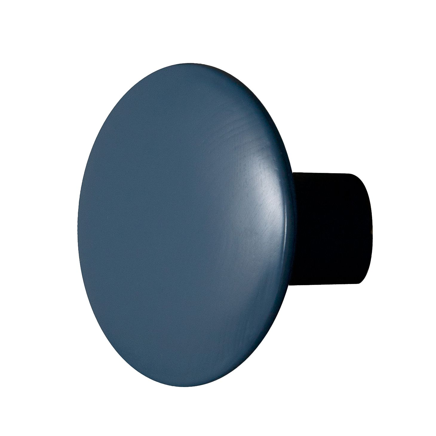 Wandhaken Button (2er-Set) - Birke massiv - 10 - Blau