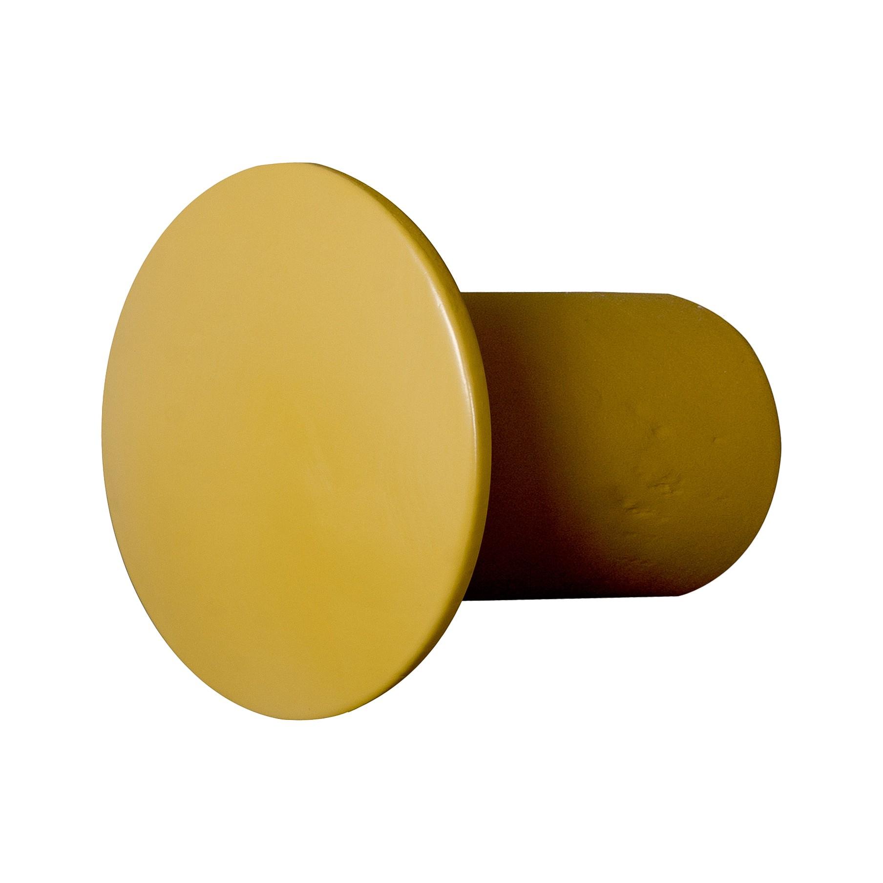 Wandhaken Button (2-delige set) - massief berkenhout - 6 - Geel, Morteens
