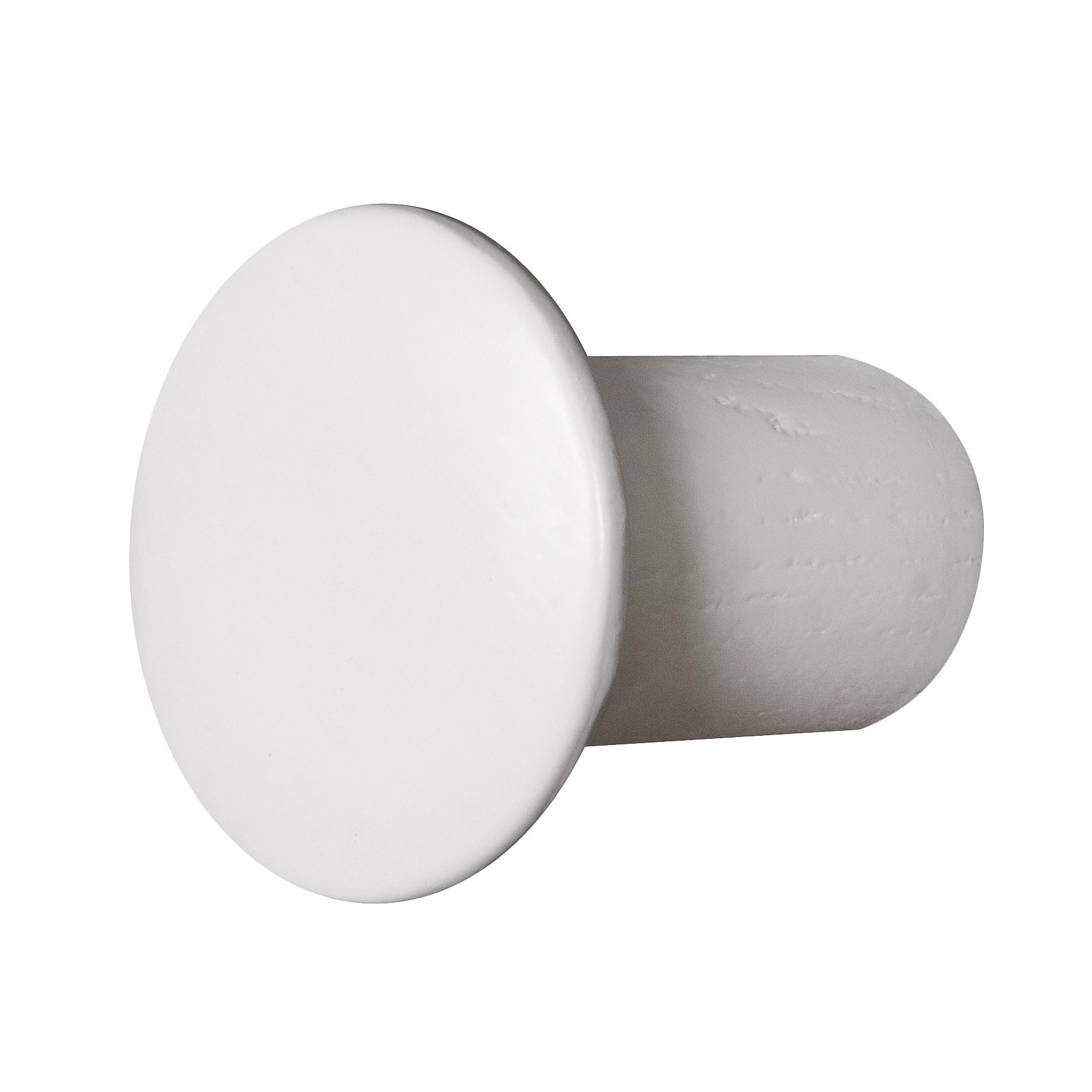 Wandhaken Button (2-delige set) - massief berkenhout - 6 - Wit, Morteens