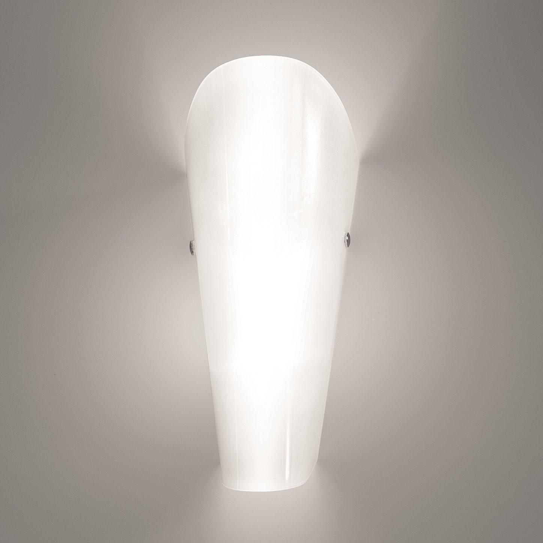 EEK A+, Wandleuchte Bloom - Glas/Metall - Weiß - 1-flammig, Lampa bei Home24 - Sonderangebote