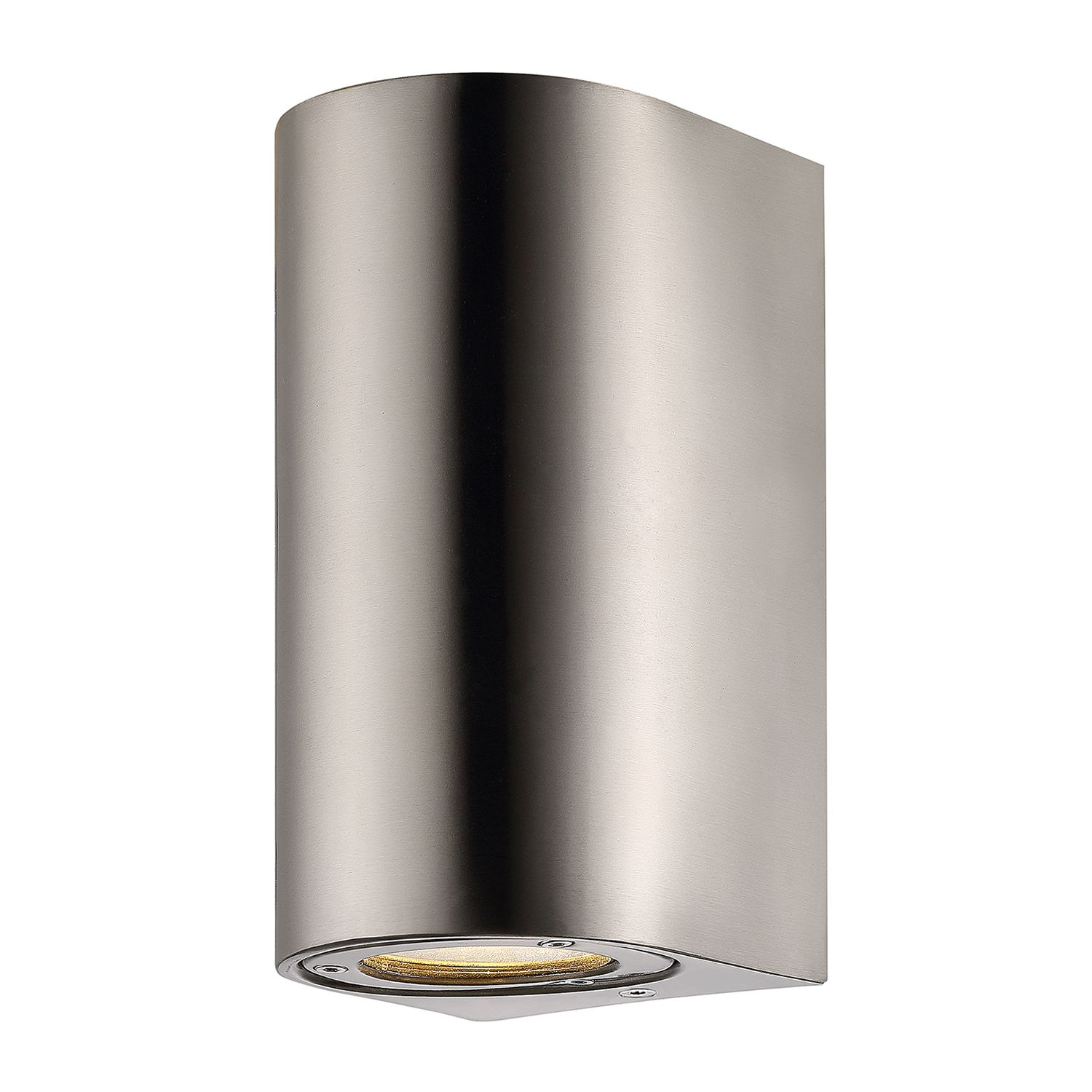 energie  A++, buitenlamp Cantos I - glas/roestvrij staal - 2 lichtbronnen - Taupe, Nordlux