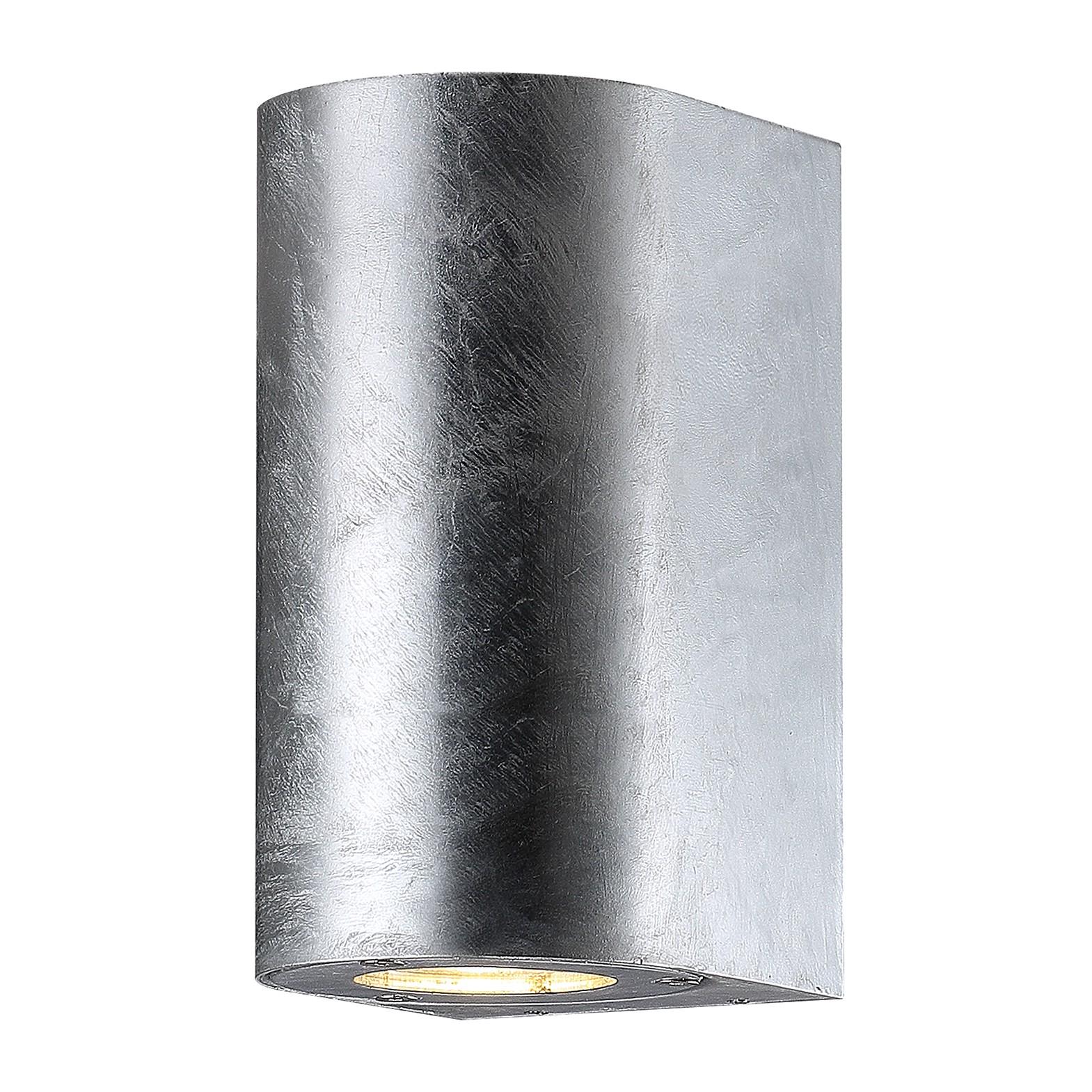 energie  A++, buitenlamp Cantos I - glas/roestvrij staal - 2 lichtbronnen - Zilverkleurig, Nordlux