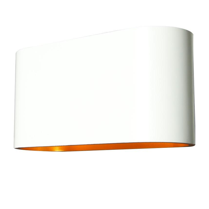 Halogen-Wandleuchte Cetus - Aluminium - 1-flammig - Weiß
