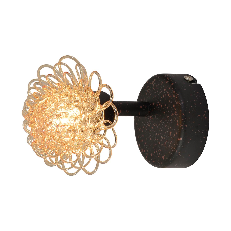 energie  C, Wandlamp Firenze - metaal/glas bruin 1 lichtbron, Näve