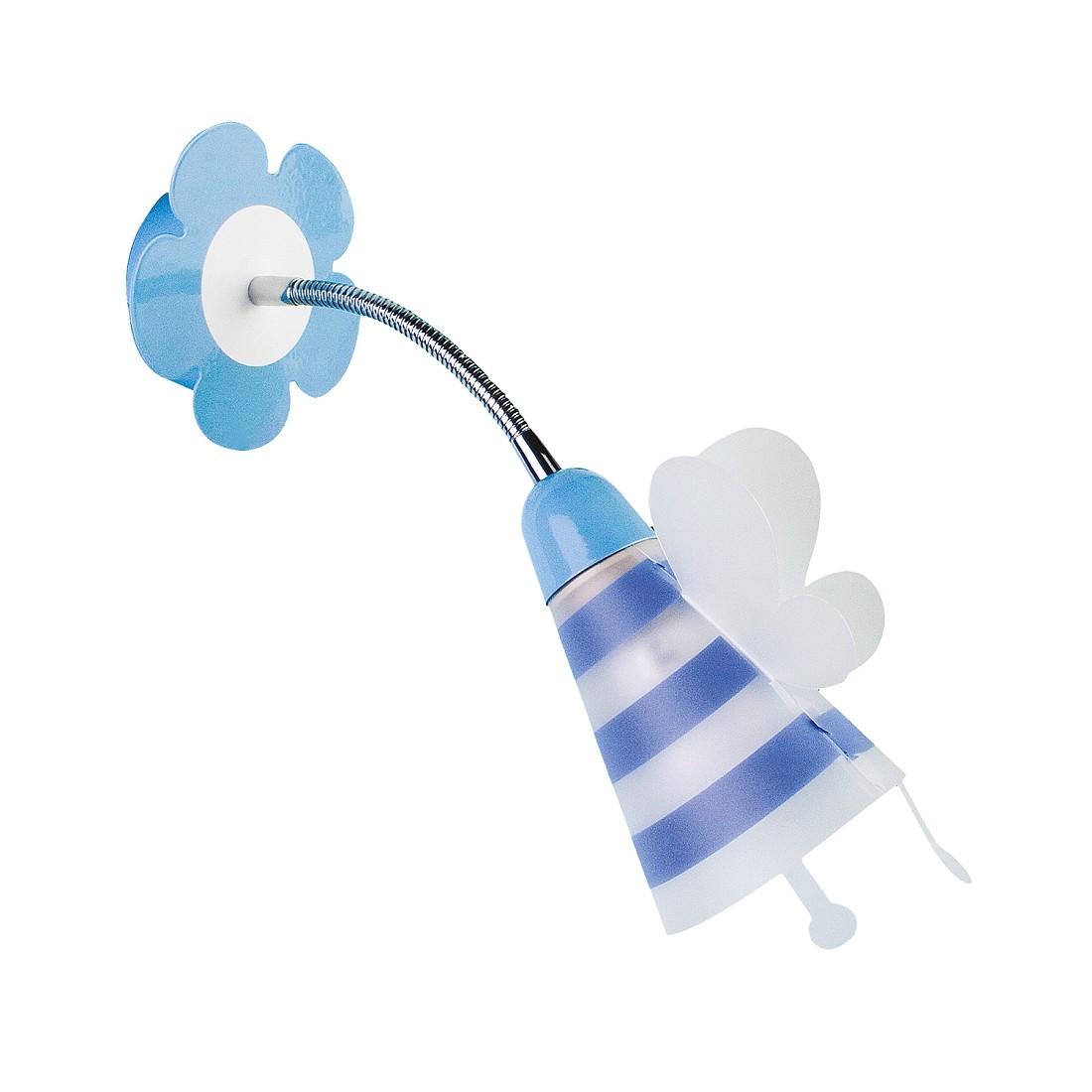 energie  A++, Wandlamp Fly - metaal/kunststof blauw 1 lichtbron, Näve