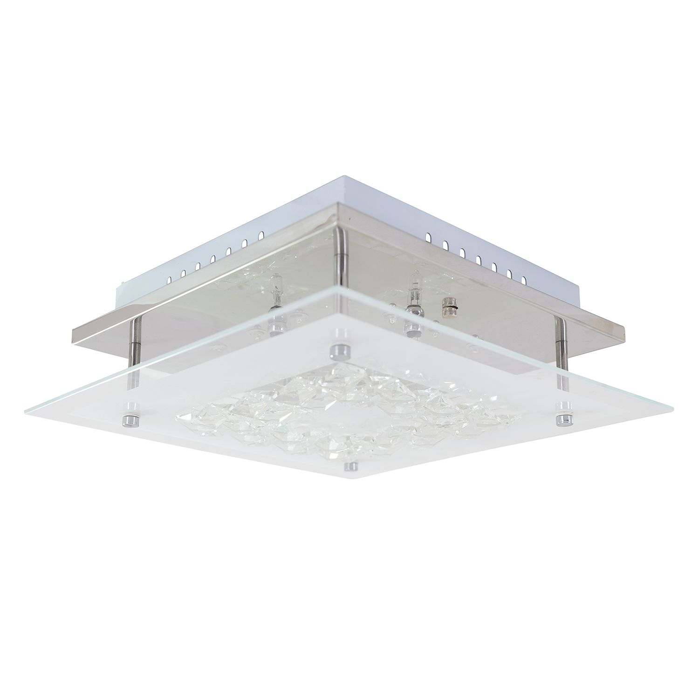 energie  C, Wandlamp - glas zilverkleurig 8 lichtbronnen, Näve