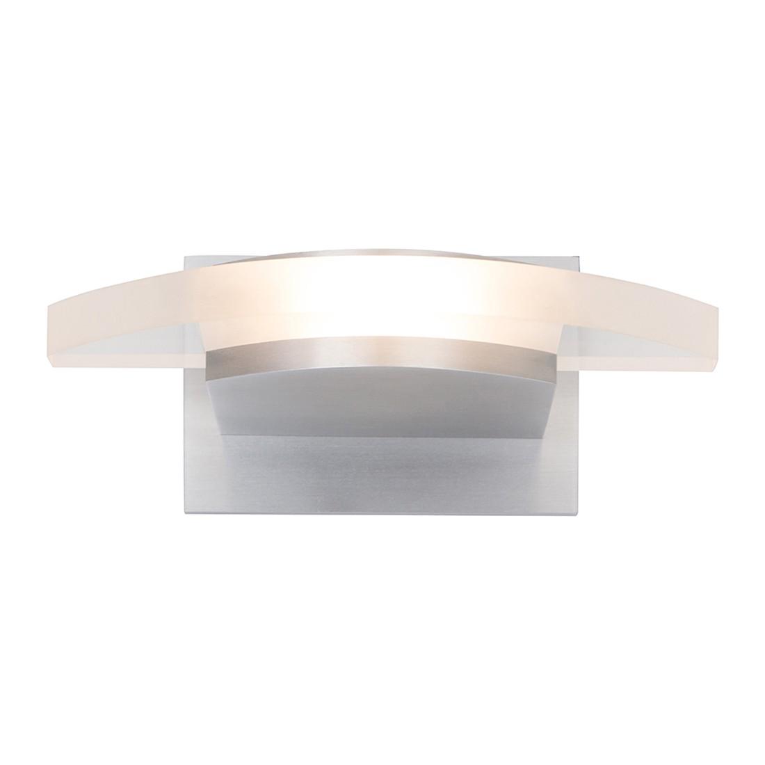 energie  A+, LED-wandlamp Humilus - 1 lichtbron mat nikkelkleurig, Steinhauer