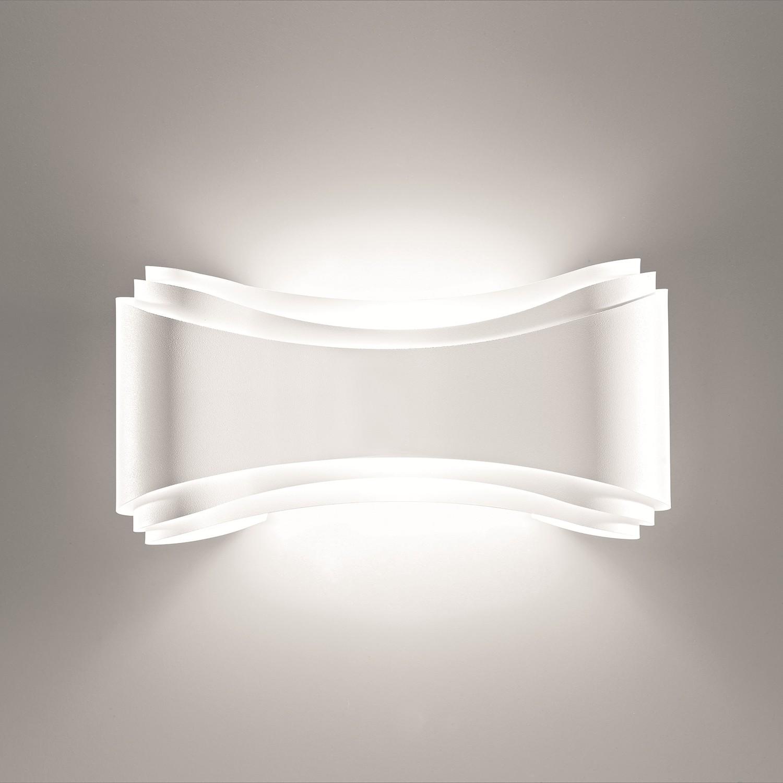 energie  A+, Wandlamp Ionica - metaal wit 1 lichtbron, Lampadina