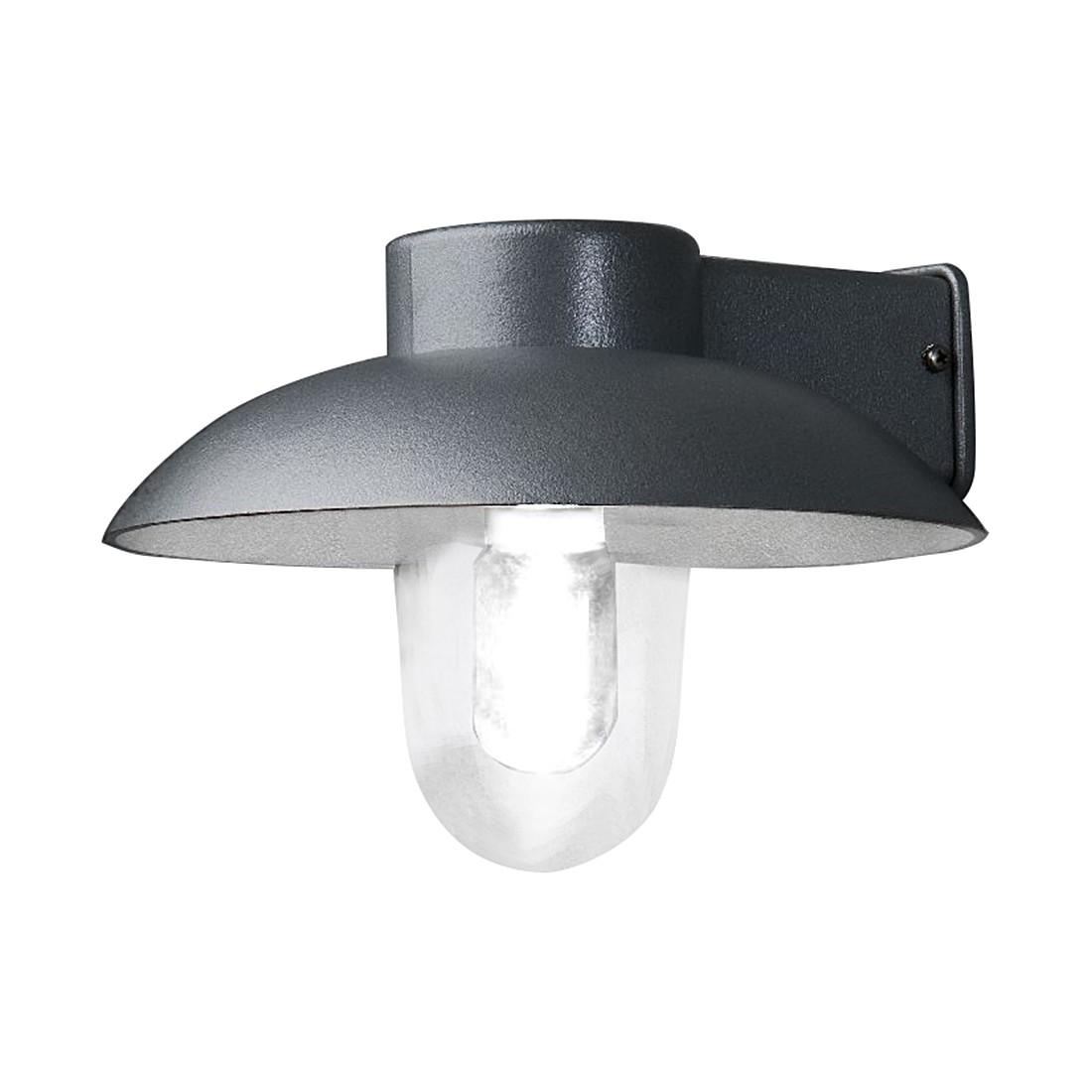 energie  A++, Wandlamp Mani - aluminium/glas 1 lichtbron, Konstsmide