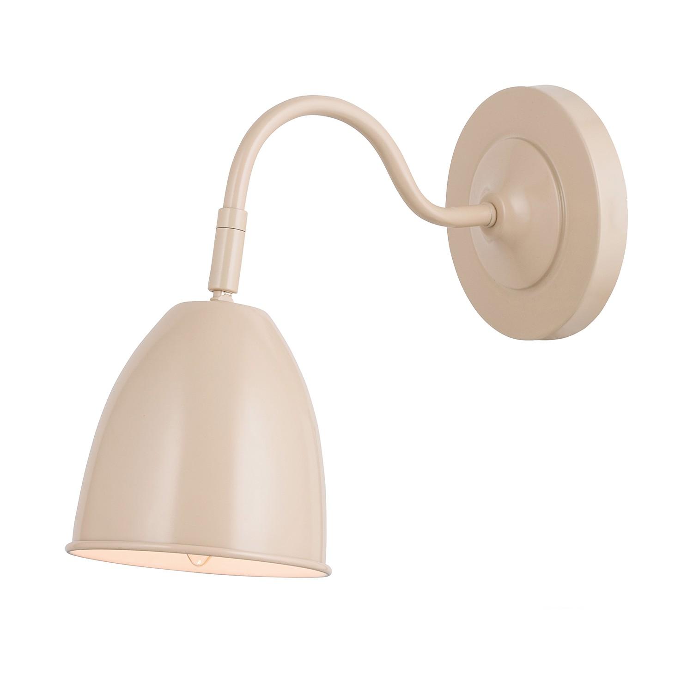 energie  A++, Wandlamp - metaal bruin 1 lichtbron, Näve