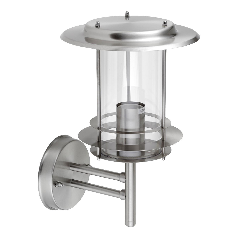 energie  A++, Wandlamp Mirco Lantern I - Glas / roestvrij staal - 1 lichtbron, Leuchten Direkt