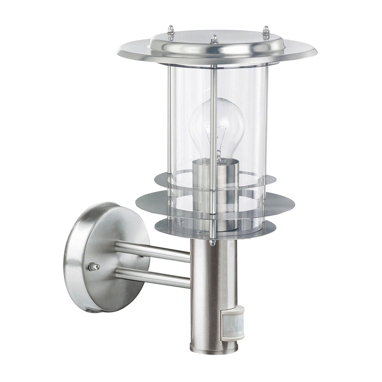 energie  A++, Wandlamp Mirco Lantern II - glas / roestvrij staal - 1 lichtbron, Leuchten Direkt