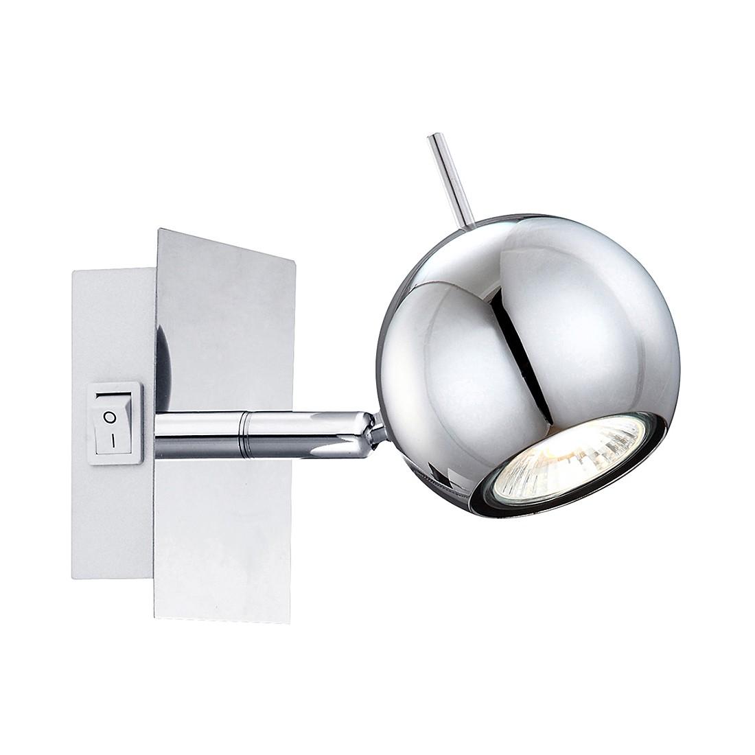 Image of energia A++, Lampada da parete OBERON - Metallo Color argento 1 luce, Globo Lighting
