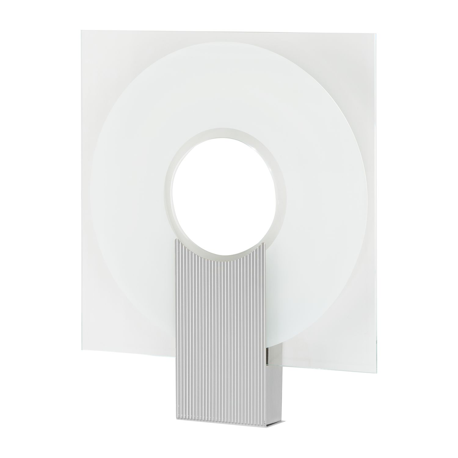 energie  A+, Wandlamp Q - glas/metaal - wit - 1 lichtbron, Lampadina