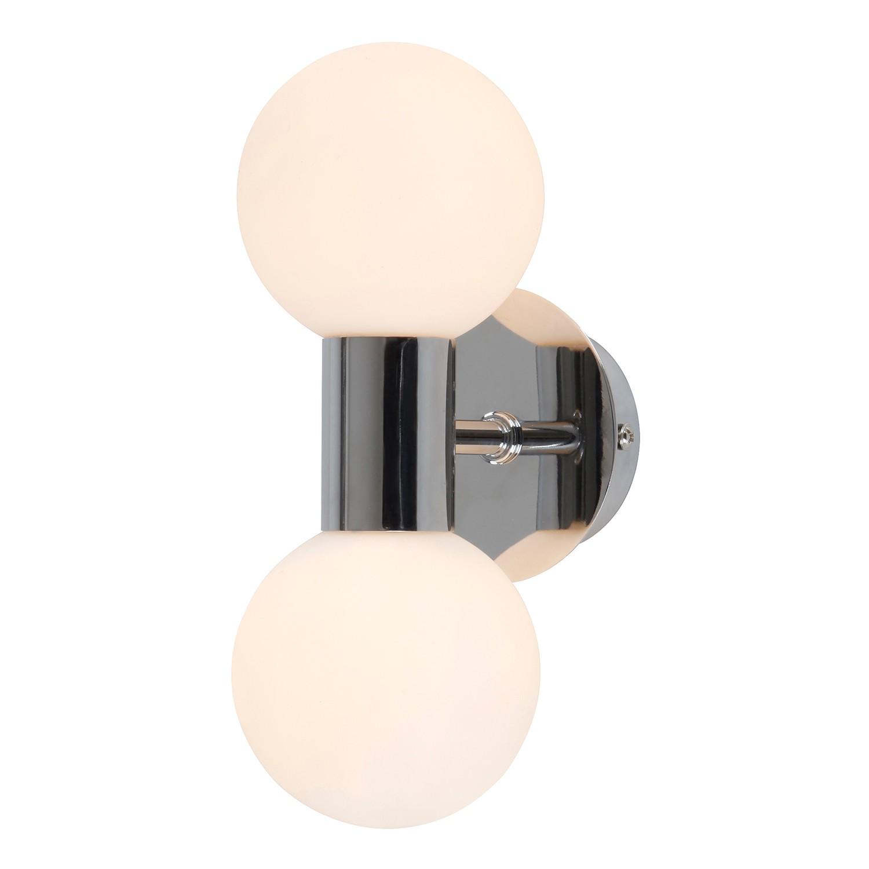 energie  A++, Wandlamp Skylon - opaalglas/staal - 2, Globo Lighting