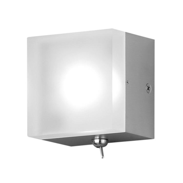 EEK A+, LED - Wandleuchte Tetra - Metall/Kunststoff - Silber, Honsel