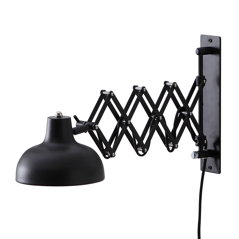 Wandleuchte Triangel - Eisen - 1-flammig - Schwarz