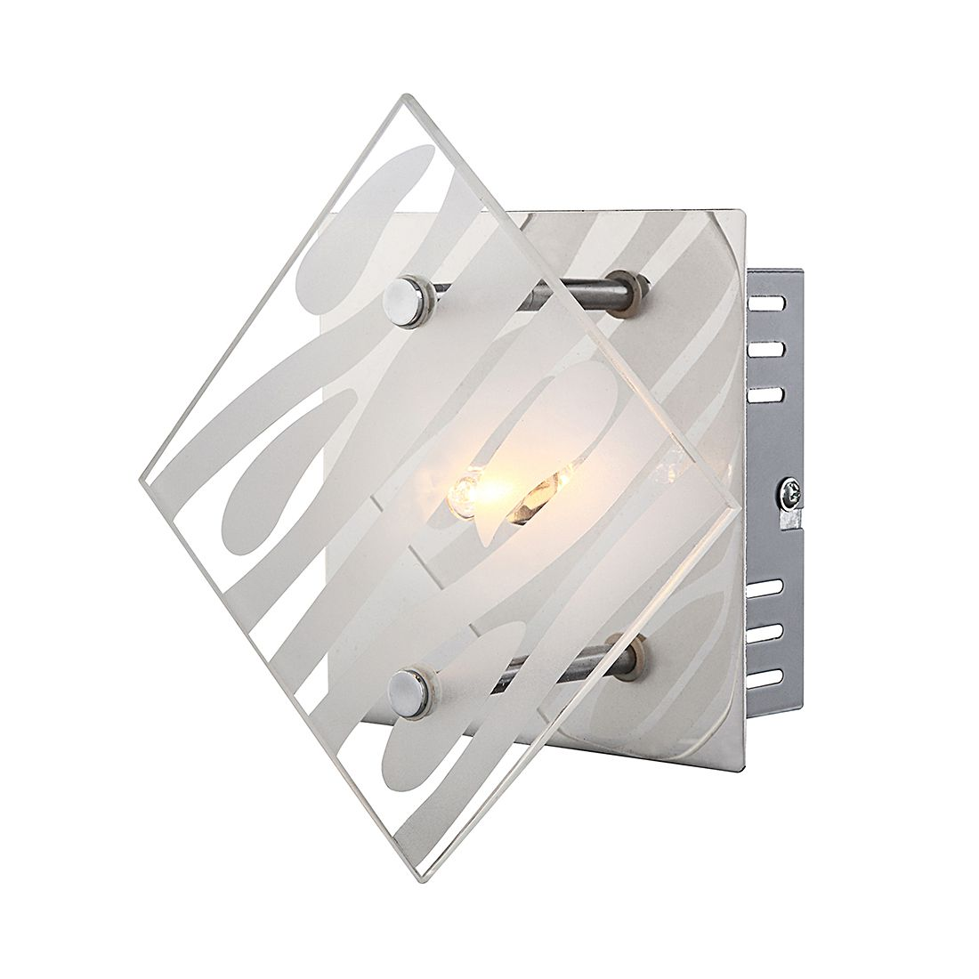 Image of energia A++, Lampada da parete Wimeron - Metallo Color argento 1 luce, Globo Lighting
