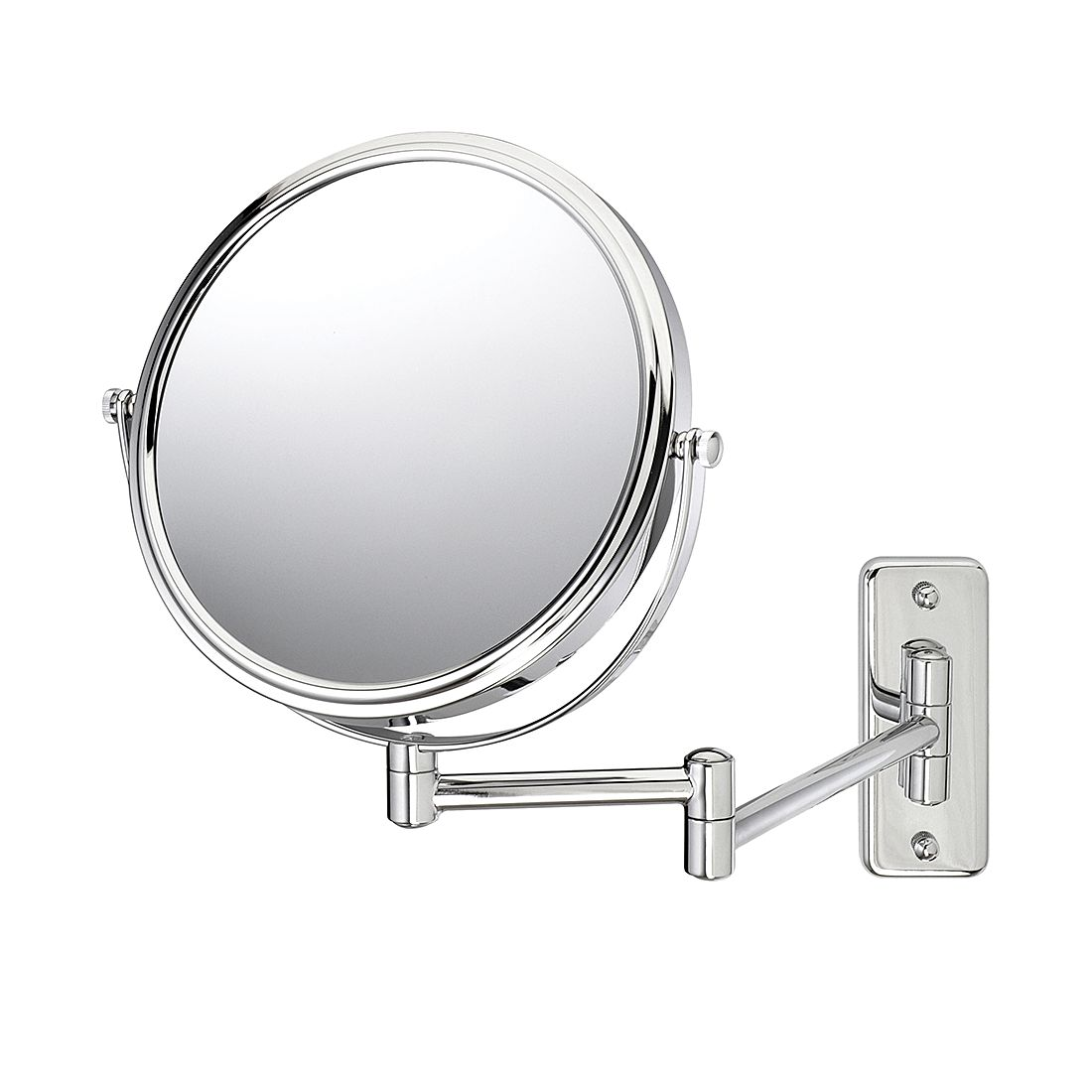 Miroir mural Bea - Chrome Avec grossissement x 5, Sanwood